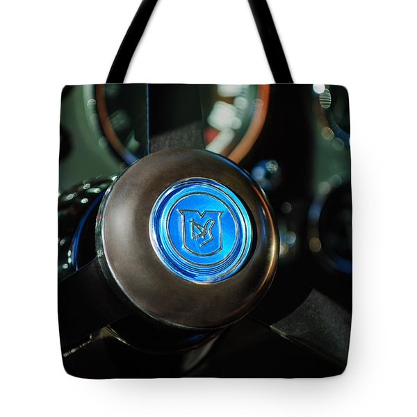 1964 Aston Martin Steering Wheel Emblem Tote Bag