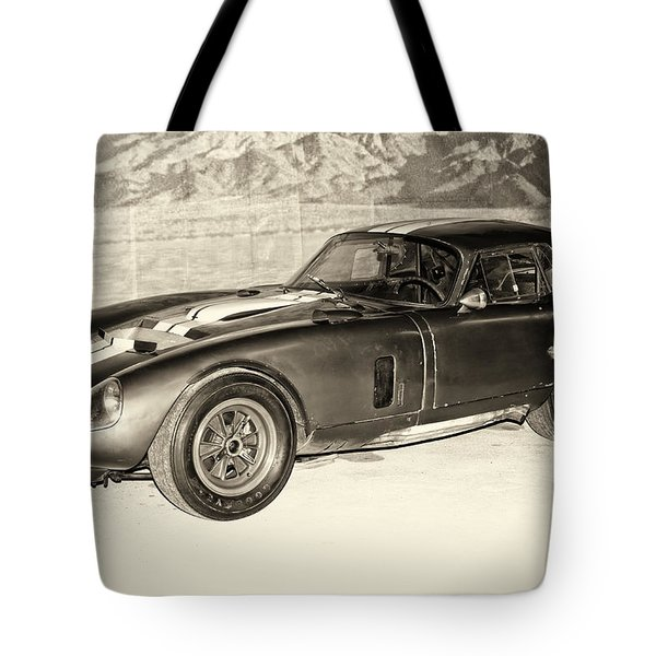 1964 Cobra Daytona Coupe Tote Bag by Boris Mordukhayev