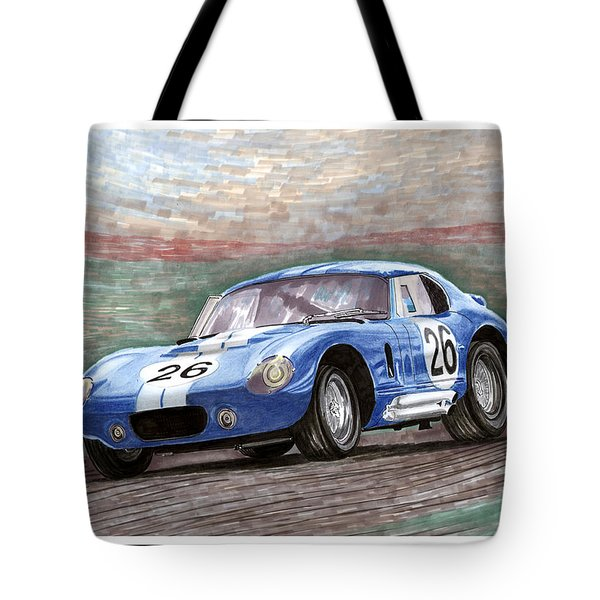 1964 Shelby Daytona Tote Bag by Jack Pumphrey