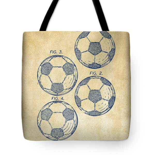 1964 Soccerball Patent Artwork - Vintage Tote Bag by Nikki Marie Smith