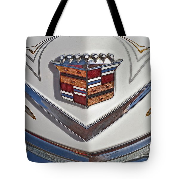 1965 Cadillac Hood Emblem Tote Bag by Bill Owen