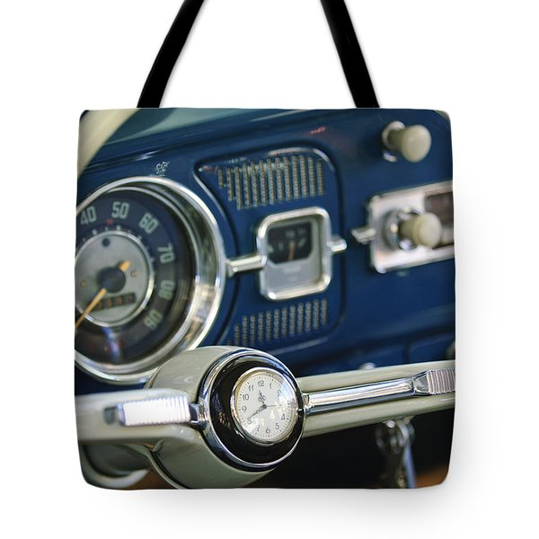 1965 Volkswagen Vw Beetle Steering Wheel Tote Bag