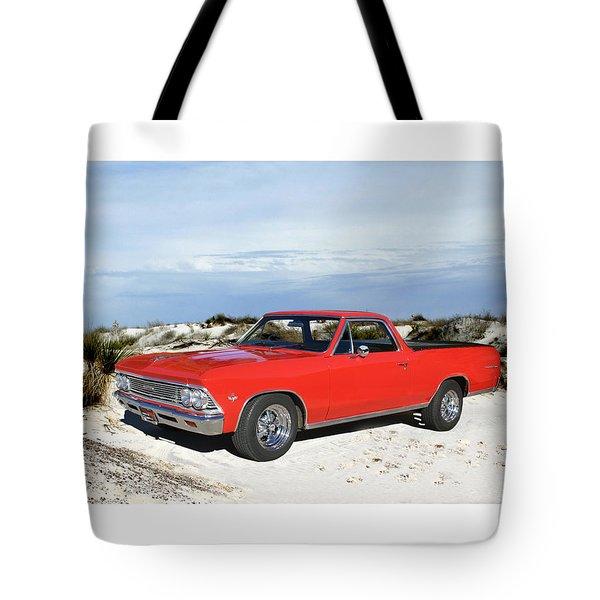 1966 Chevrolet El Camino 327 Tote Bag by Jack Pumphrey