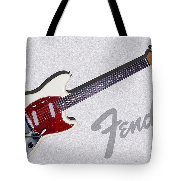 Tote Bag featuring the digital art 1966 Fender Mustang by Arthur Eggers