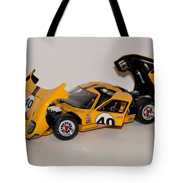 Tote Bag featuring the photograph 1966 Ford Gt40 - Diecast by John Black