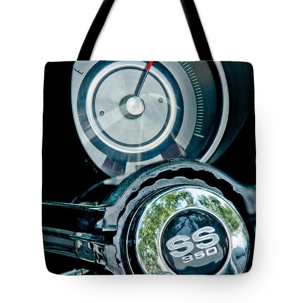 1967 Chevrolet Camaro  Ss Steering Wheel Emblem Emblem Tote Bag by Jill Reger