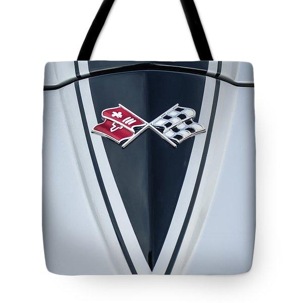 1967 Chevrolet Corvette Coupe Hood Emblem Tote Bag