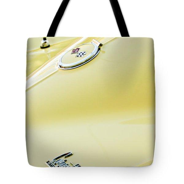 1967 Chevrolet Corvette Sport Coupe Emblem 2 Tote Bag by Jill Reger