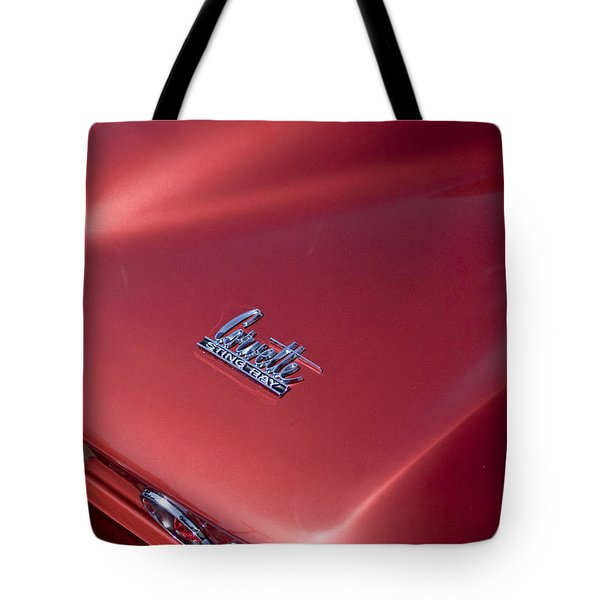 1967 Chevrolet Corvette Taillight Emblems Tote Bag by Jill Reger