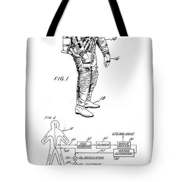 1967 Nasa Astronaut Ventilated Space Suit Patent Art 3 Tote Bag