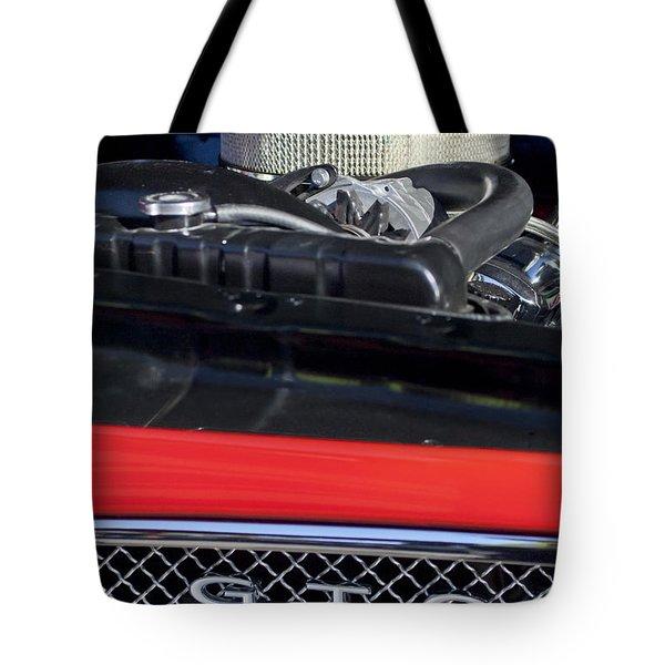 1967 Pontiac Gto Engine Emblem Tote Bag by Jill Reger