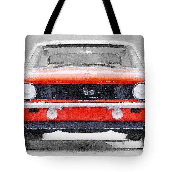1968 Chevy Camaro Ss Watercolor Tote Bag