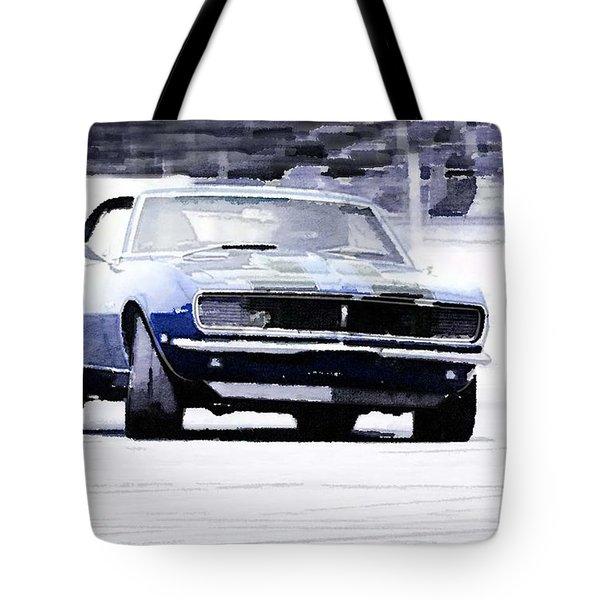 1968 Chevy Camaro Watercolor Tote Bag