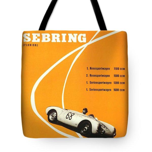 1968 Porsche Sebring Florida Poster Tote Bag
