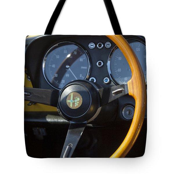 1969 Alfa Romeo 1750 Spider Steering Wheel Tote Bag by Jill Reger
