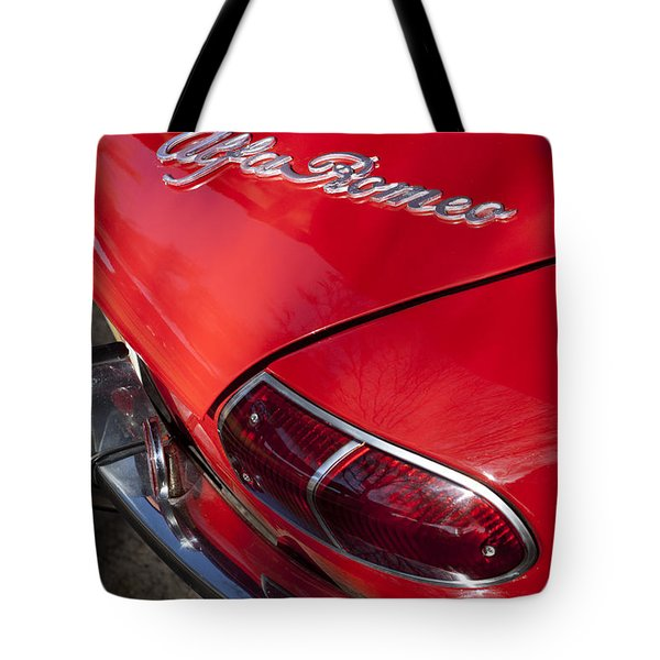 1969 Alfa Romeo 1750 Spider Taillight Emblem Tote Bag by Jill Reger