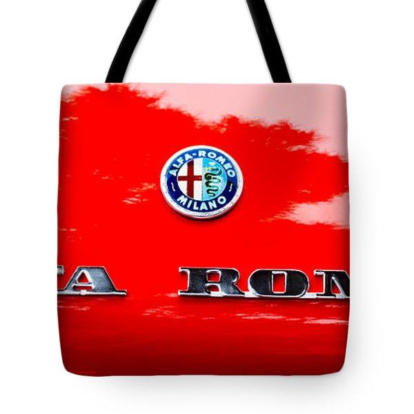 1969 Alfa Romeo Spider Veloce Iniezione Emblem Tote Bag by Jill Reger