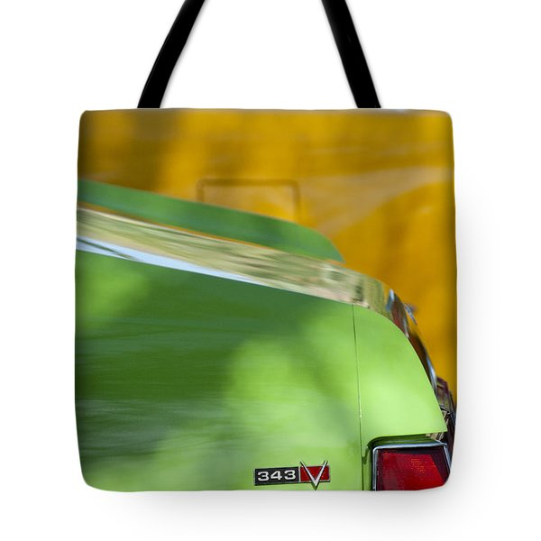 1969 Amc Javelin Sst Taillight Emblem Tote Bag by Jill Reger