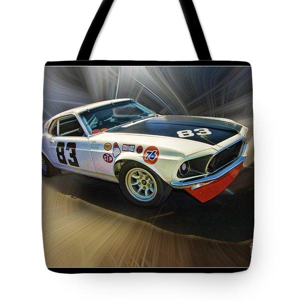 1969 Boss 302 Mustang Tote Bag