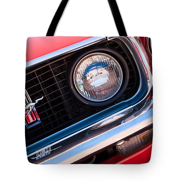 1969 Ford Mustang Boss 429 Grille Emblem Tote Bag by Jill Reger