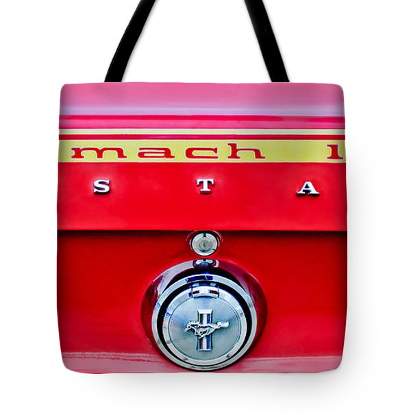 1969 Ford Mustang Mach 1 Rear Emblems Tote Bag by Jill Reger