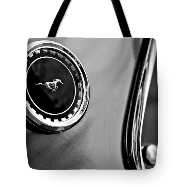 1969 Ford Mustang Mach 1 Side Emblem Tote Bag by Jill Reger