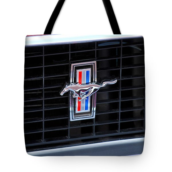 1969 Mustang Mach 1 Grille Emblem Tote Bag by Jill Reger