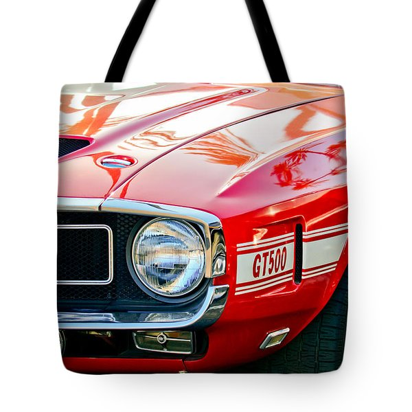 1969 Shelby Cobra Gt500 Front End - Grille Emblem Tote Bag