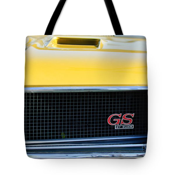 1970 Buick Gs Grille Emblem Tote Bag by Jill Reger