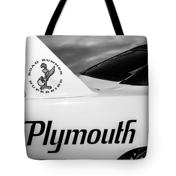 1970 Plymouth Superbird Emblem -0520bw Tote Bag