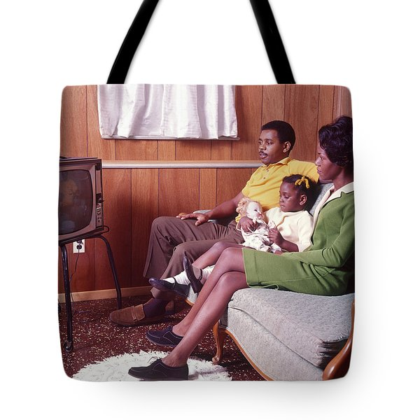1970s African American Family Father Tote Bag