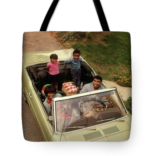 1970s African American Family Of Four Tote Bag
