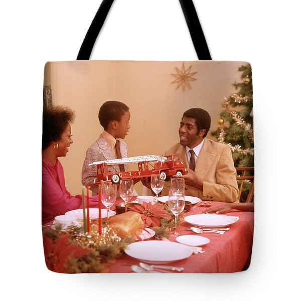 1970s African American Family Tote Bag
