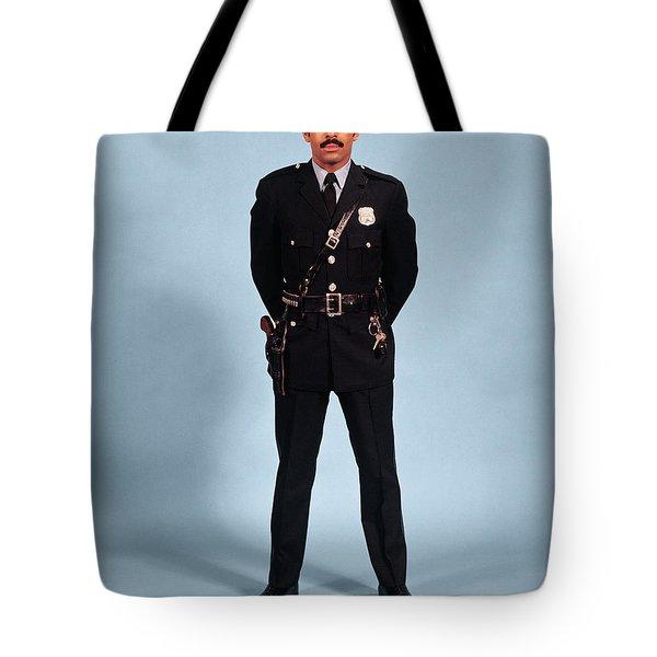 1970s African American Man Police Tote Bag