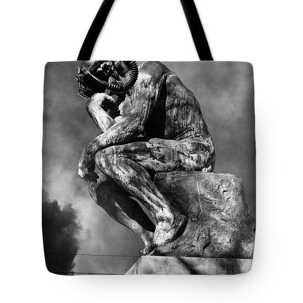 1970s Bronze Statue Of Rodins Thinker Tote Bag