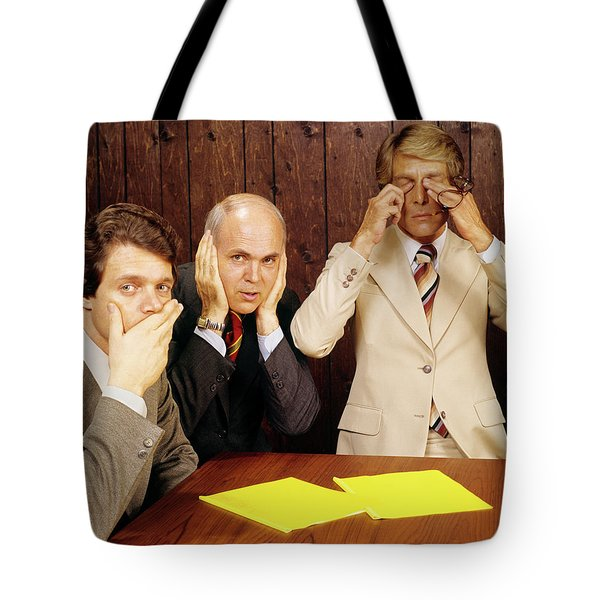 1970s Businessmen As Three Wise Monkeys Tote Bag