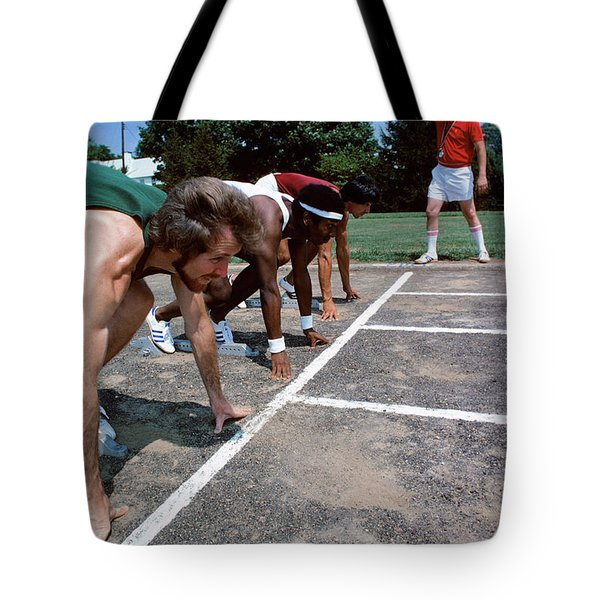 1970s Diverse Group Of Runners Tote Bag