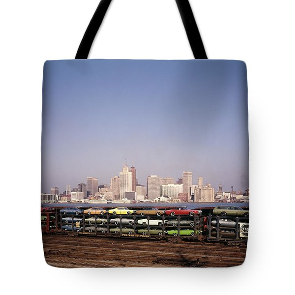 1970s Freight Train Transporting Tote Bag