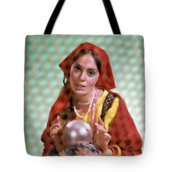 1970s Gypsy Woman Fortuneteller Fortune Tote Bag