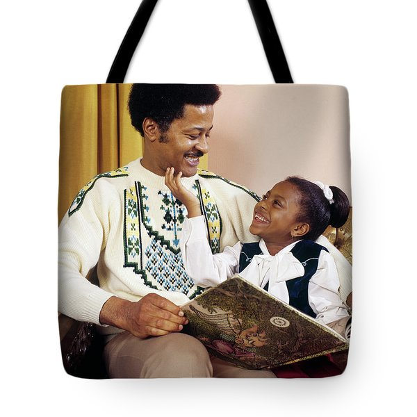 1970s Happy African American Father Tote Bag