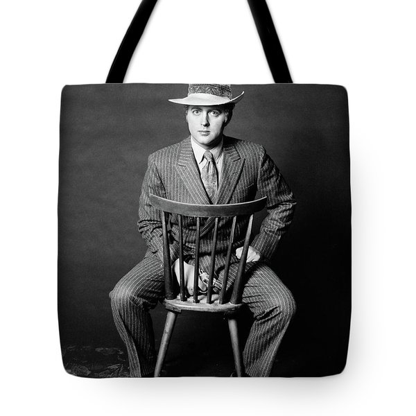 1970s Man Seated Backwards On Chair Tote Bag