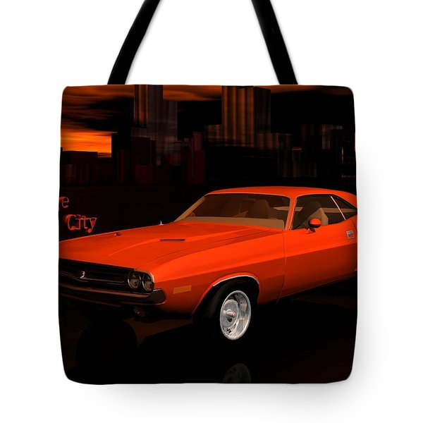 1971 Challenger Tote Bag by John Pangia