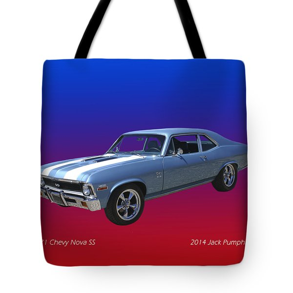 1971 Chevy Nova S S Tote Bag