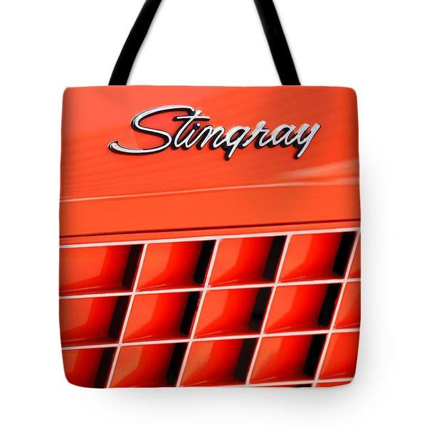 1972 Chevrolet Corvette Stingray Emblem 3 Tote Bag by Jill Reger
