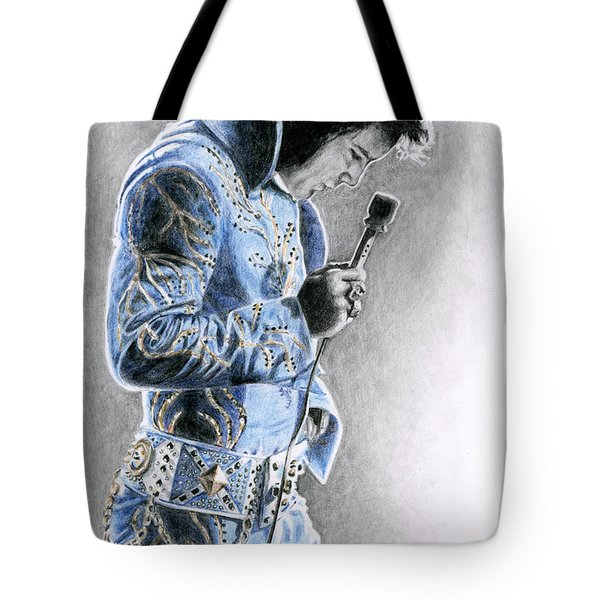1972 Light Blue Wheat Suit Tote Bag