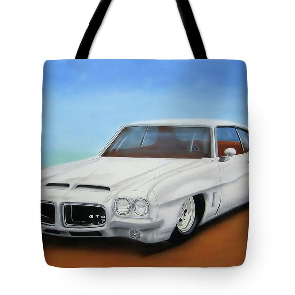Tote Bag featuring the painting 1972 Pontiac Gto by Thomas J Herring
