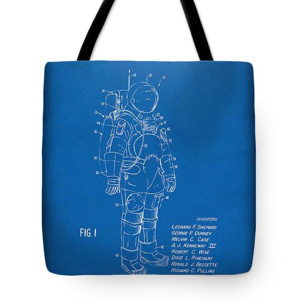 1973 Space Suit Patent Inventors Artwork - Blueprint Tote Bag