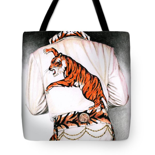 1974 Mad Tiger Suit Tote Bag by Rob De Vries