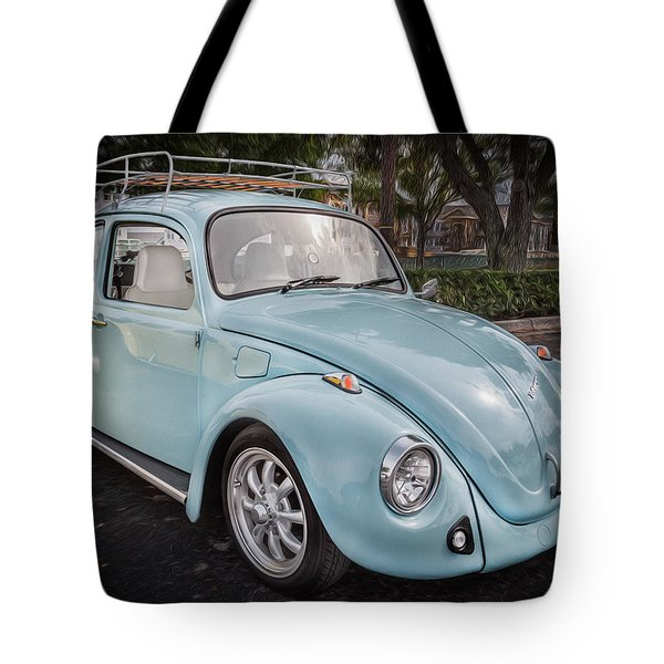 1974 Volkswagen Beetle Vw Bug Tote Bag