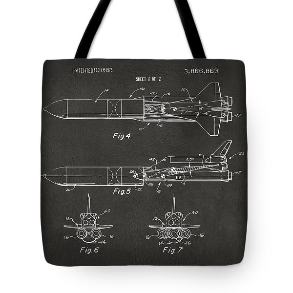 1975 Space Vehicle Patent - Gray Tote Bag by Nikki Marie Smith